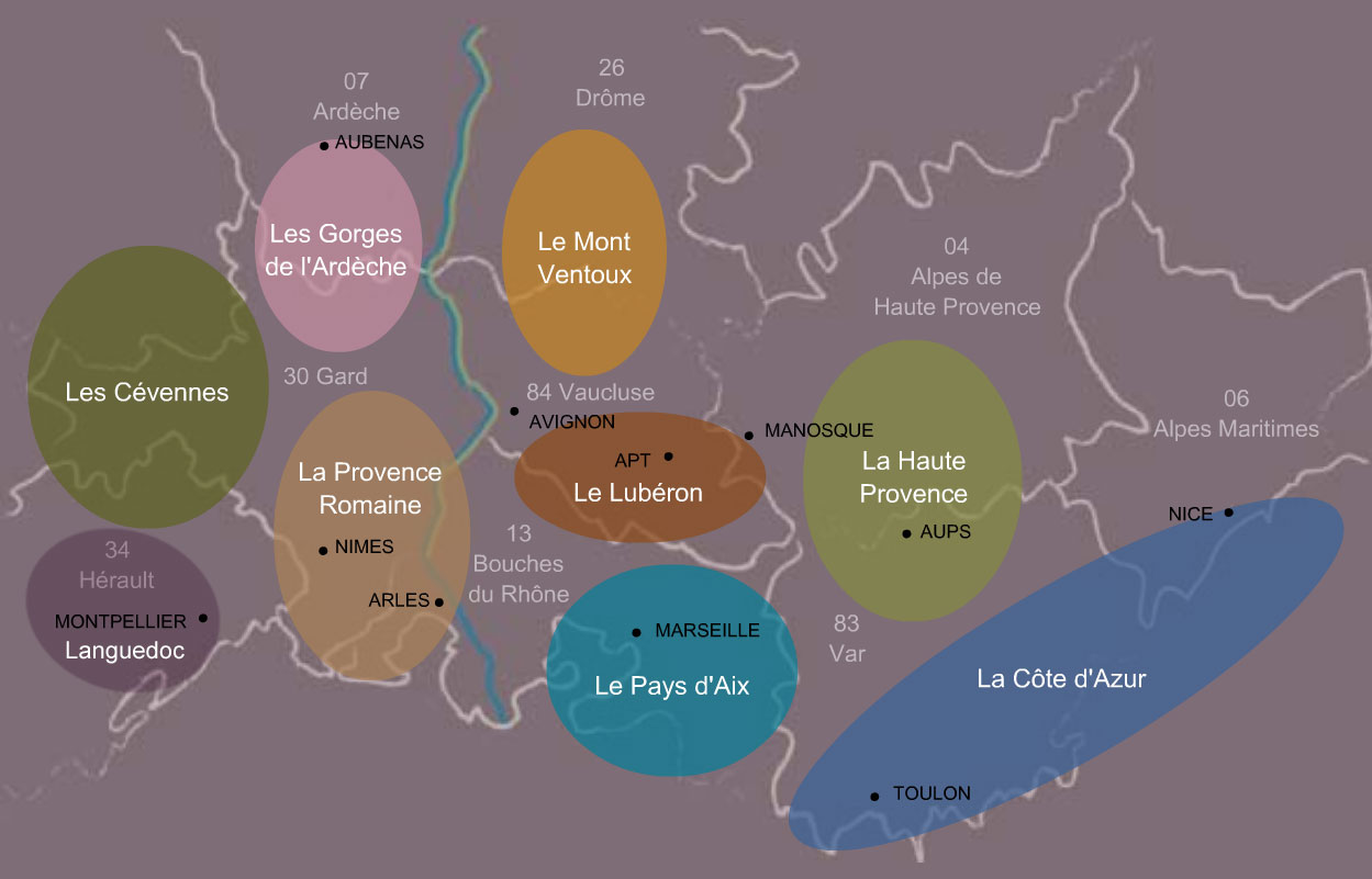 South France house rental map
