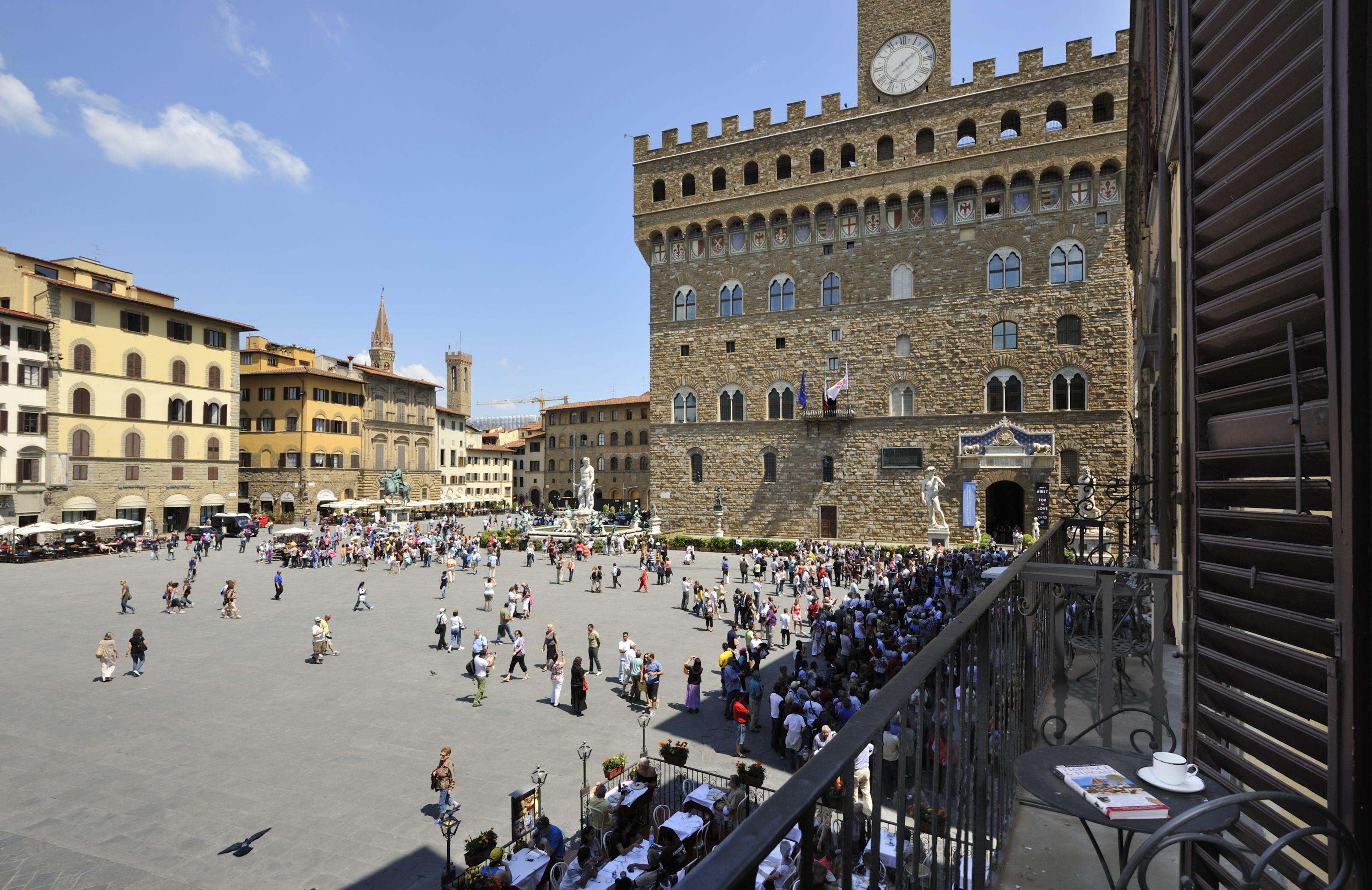 Vista Su Piazza Della Signoria Florence